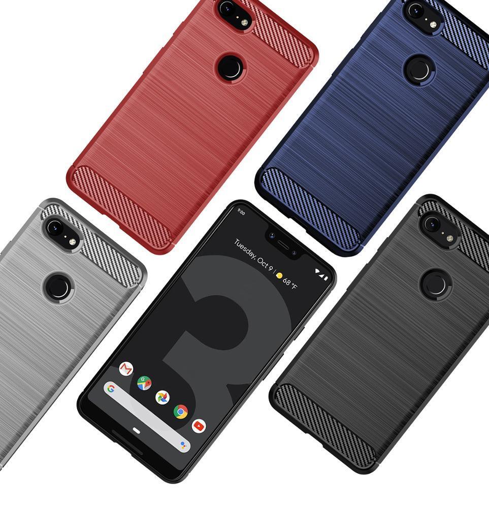 Чехол на Google Pixel 3 XL цвет Blue (синий), серия Carbon от Caseport