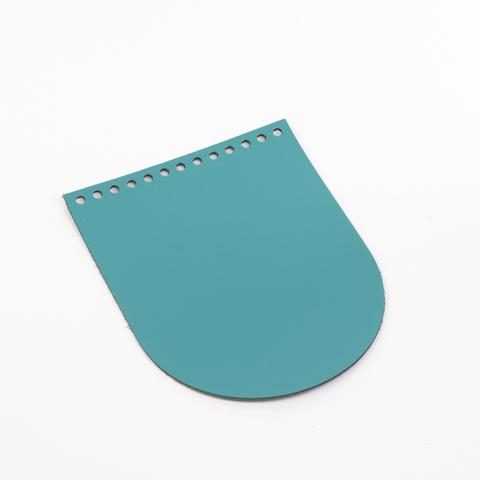 """Клапан для сумочки кожаный """"Морская волна"""" 19,5*15,5 см"""