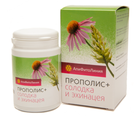 Фитокомплекс Прополис+солодка и эхинацея, 60 шт