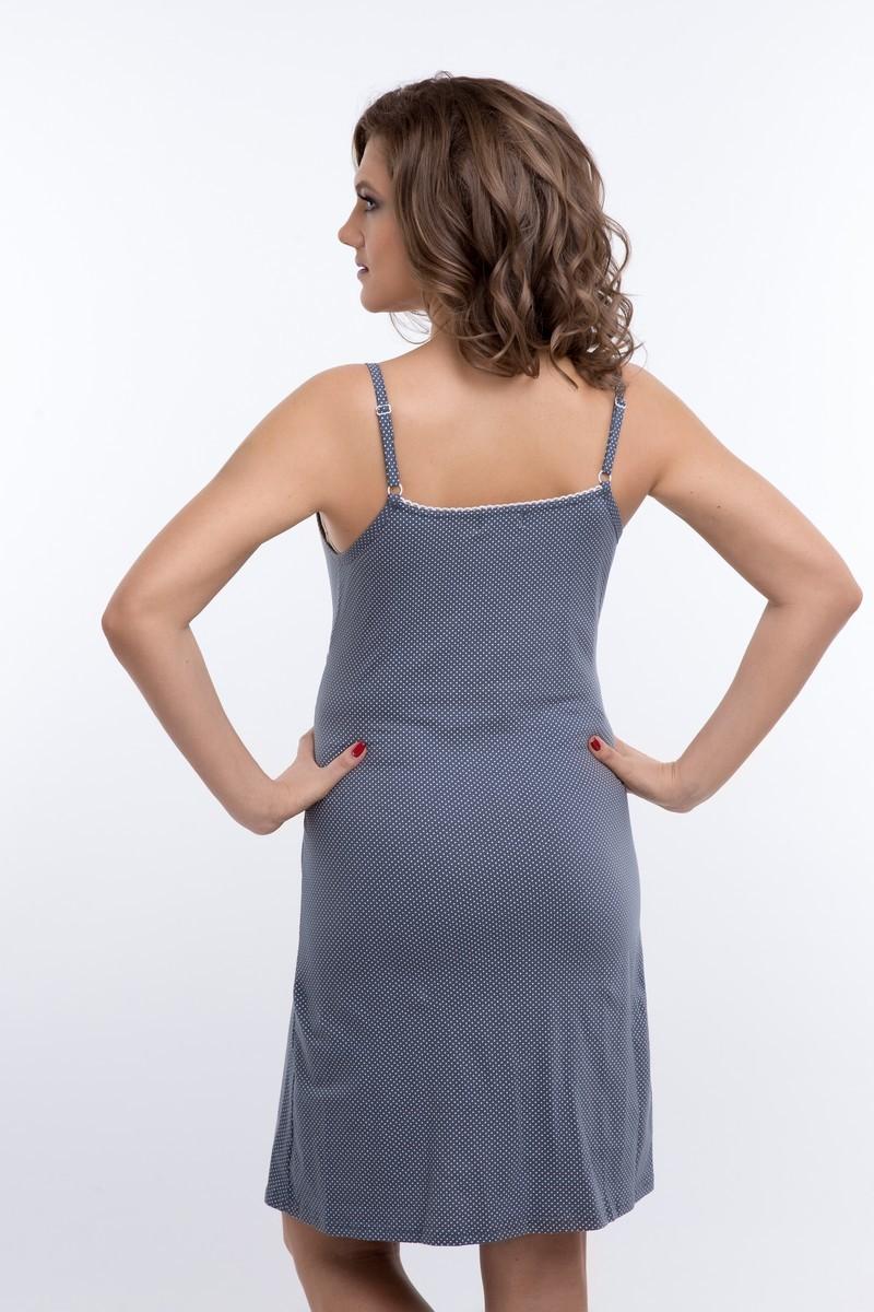 Ночная сорочка для беременных и кормящих 09616 серый