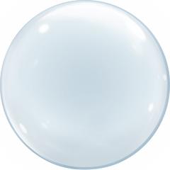 К Сфера 3D, Deco Bubble, Прозрачный, (24''/61 см), КИТАЙ, БЕЗ УПАКОВКИ, 1 шт.
