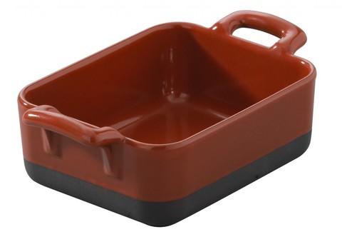 Прямоугольное фарфоровое блюдо для запекания красное, артикул 647600, серия Eclipse