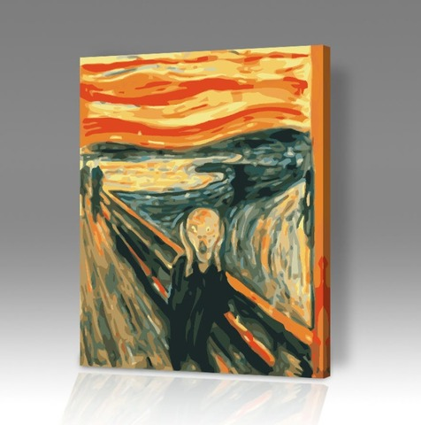 Картина по номерам на холсте Крик - Эдварда Мунка, 40см*50см