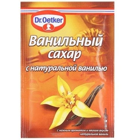 Сахар ванильный с натуральной ванилью  Dr.Oetker, 15гр