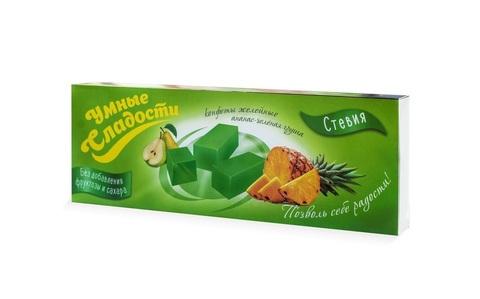 Конфеты Желейные со вкусом Ананас - Зеленая Груша