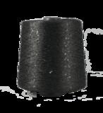 Пряжа Pailettes 3 мм 301 черный глянец