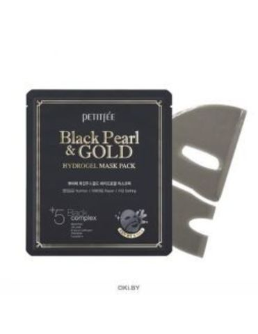 Гидрогелевая маска для лица ЖЕМЧУГ/ЗОЛОТО Black Pearl & Gold Hydrogel Mask Pack