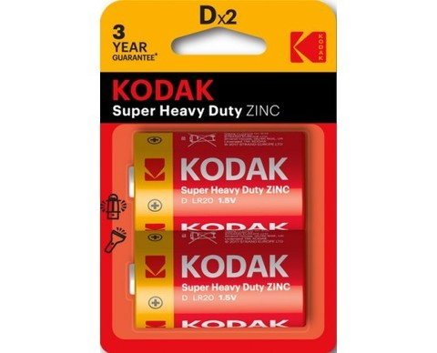 Батарейки Kodak R20, D (2/24/288) BL