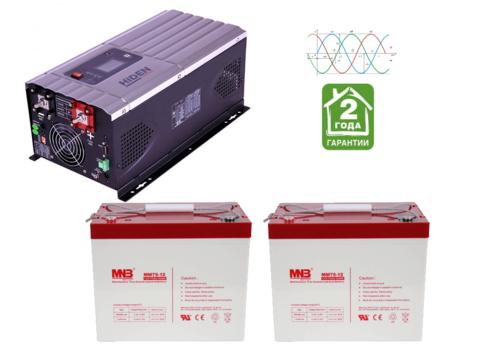 Комплект ИБП HPS30-2012-АКБ MM75-2шт (12в, 2000Вт)