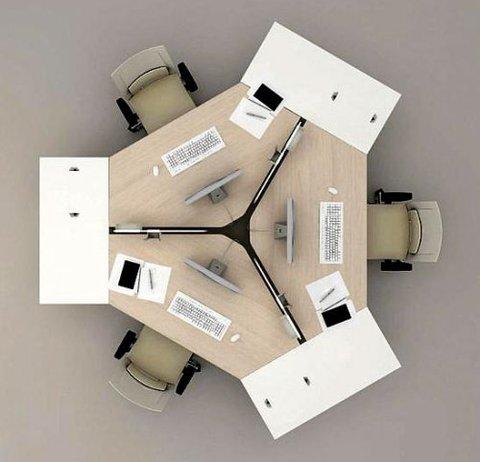 Столешница шестиугольная с разверткой 120 и фурнитурой для крепления LOGIC
