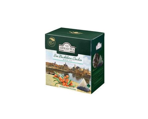 Чай черный в пирамидках Ahmad Tea Облепиховые леденцы, 20 пак/уп