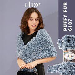 Пряжа Alize Puffy Fur цвет 6107