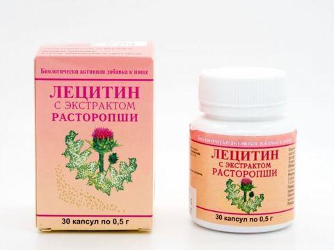 Лецитин с экстрактом расторопши, 30 капс. (Экобио)
