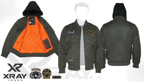 Куртка утепленная 'M-1 Flight Jacket Hooded & Patches' Olive