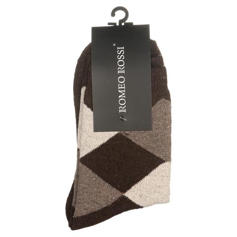 Мужские носки коричневые ROMEO ROSSI с шерстью 8038-15