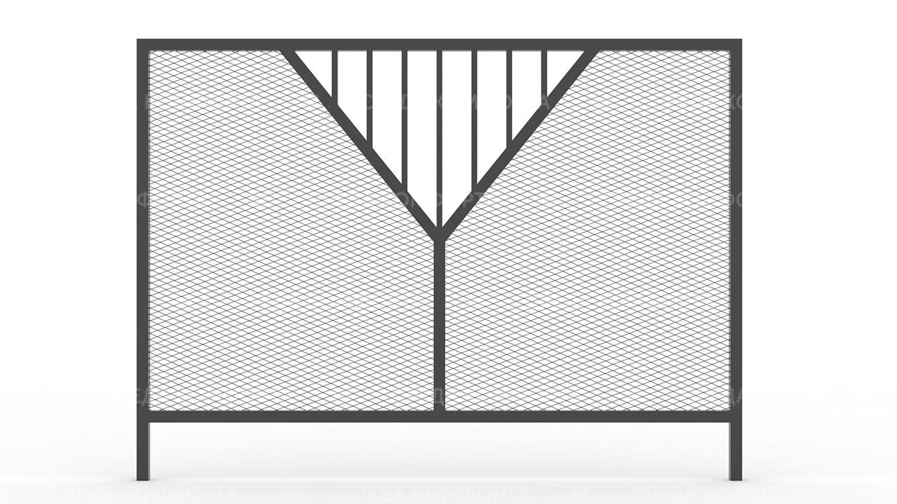 Забор из сетки рабицы ZBR0181