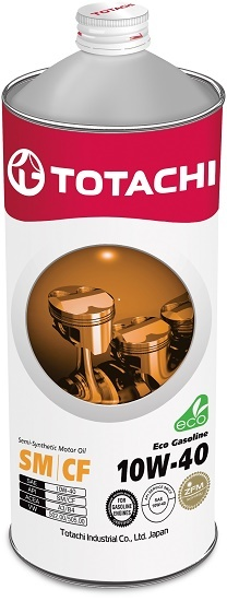 Eco Gasoline 10W-40 TOTACHI масло моторное полусинтетическое (1 Литр)