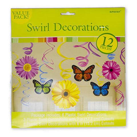 Спираль Бабочки Цветы 46-60см 12 штук