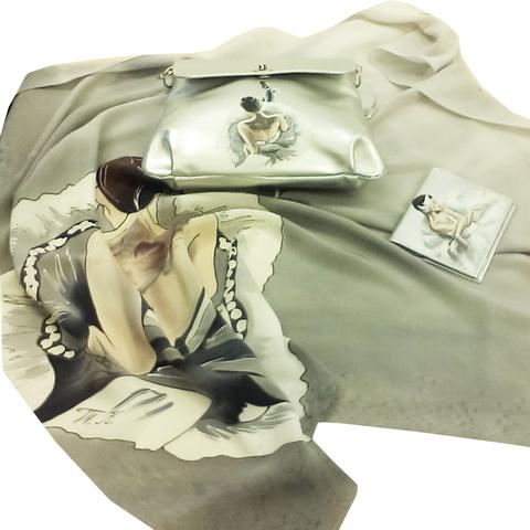Комплект: Платок, сумка и кошелек