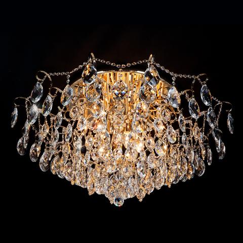 Потолочная люстра с хрусталем 10081/12 золото / прозрачный хрусталь