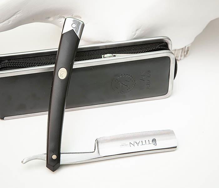 RAZ492 Недорогая опасная бритва «TITAN» с пластиковой рукояткой фото 08