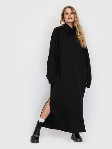 Платье черное с разрезами YOS