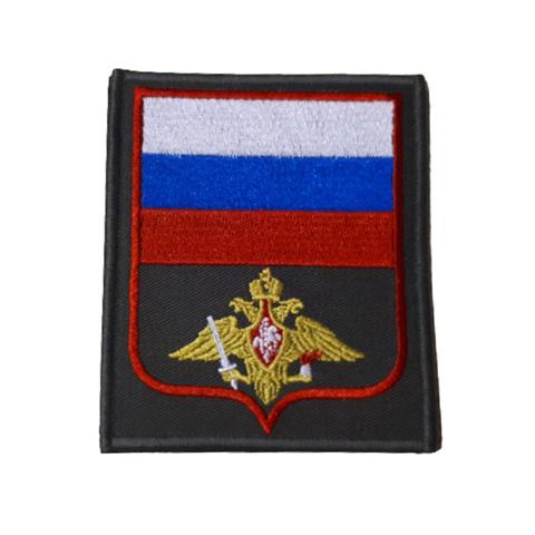 Шеврон нарукавный Сухопутные войска (олива, красный кант)