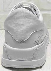 Спортивные туфли кроссовки кожаные женские Evromoda 141-1511 White Leather.