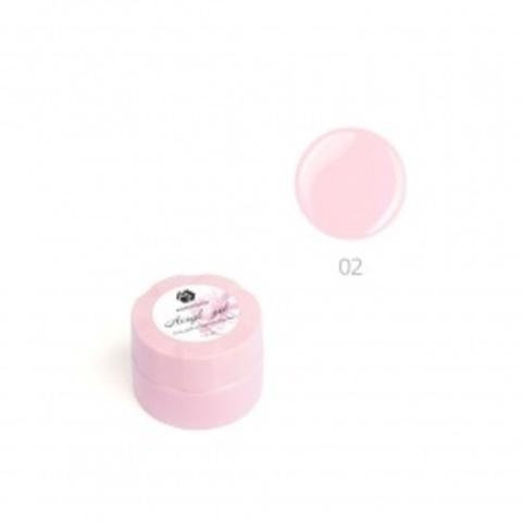 Акригель для наращивания ногтей ADRICOCO №02 камуфлирующий естественный розовый (10 мл.)