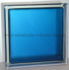 Стеклоблок синий арктик окрашенный изнутри Vitrablok 19x19x8