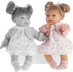 MUNECAS ANTONIO JUAN  Кукла Лорена в розовом, озвученная, 37см (1558P)