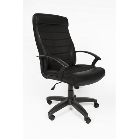 Кресло для руководителя Easy Chair 639 TPU черное (экокожа/ткань/пластик)