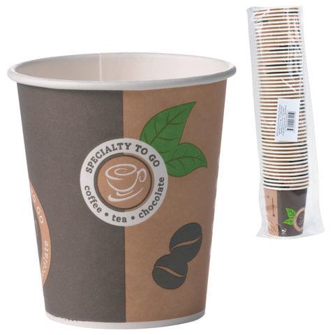"""Бумажные стаканы """"Coffee-to-go"""" 200мл 50шт"""