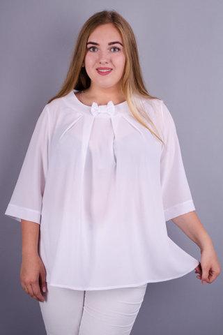 Рената. Гарна блуза великих розмрів Білий.