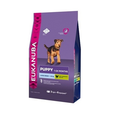 18 кг. EUKANUBA Сухой корм для щенков крупных пород Puppy&Junior Large Breed