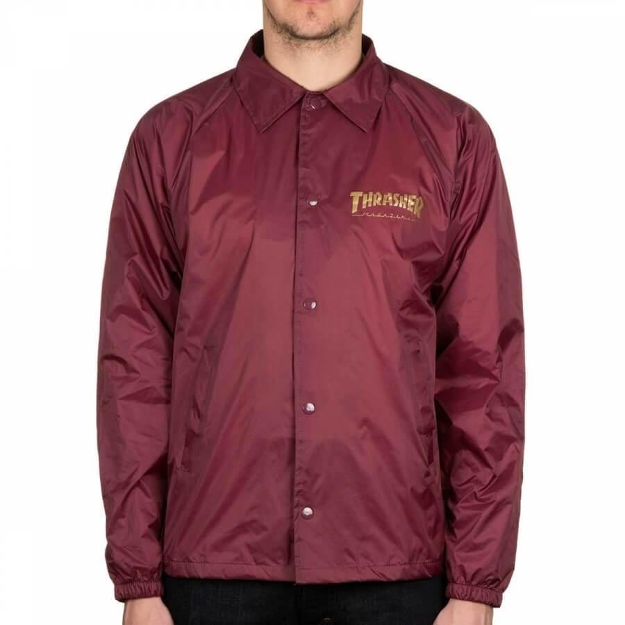 Куртка THRASHER Pentagram Coach (Maroon)