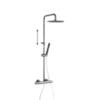 Душевая система с термостатом и тропическим душем для ванны TZAR 345401RM250NC никель - фото №1