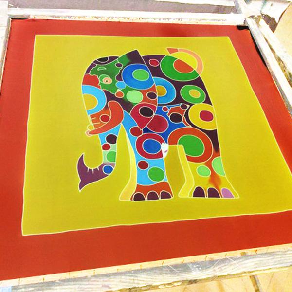 Шелковый платок Слон
