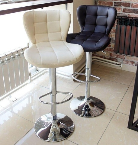 Сиденье для барного стула Porsche/Порше, экокожа, белое (сидение)