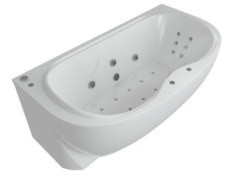 Ванна акриловая Aquatek Мелисса  180х95 см на каркасе и сливом-переливом