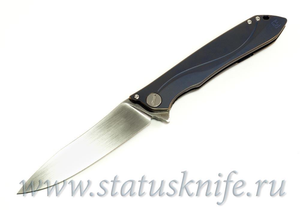 Нож CKF MILK (М390, титан, ручной сатин) - фотография