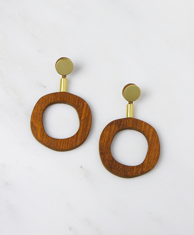 Серьги Jean I Earrings Wood