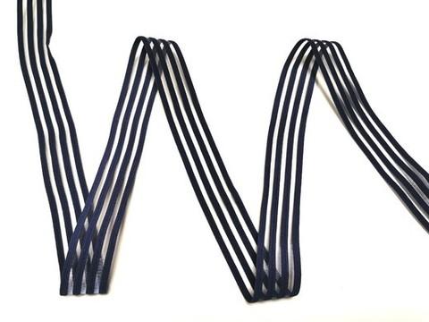 Резинка с прозрачными нейлоновыми вставками, 3см, темно-синий, м