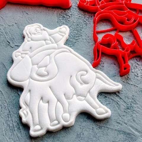 Дед Мороз на быке №9