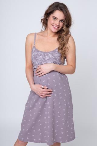Сорочка для беременных и кормящих 12371 какао