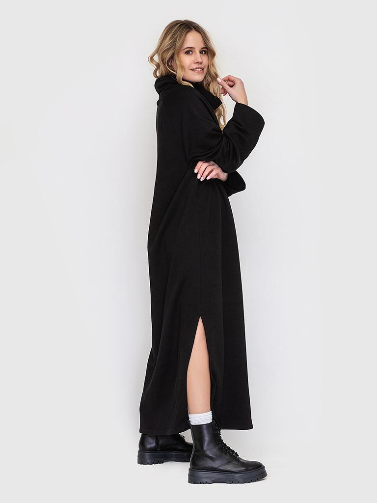 Платье черное с разрезами YOS от украинского бренда Your Own Style