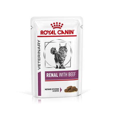 Влажные корма Пауч для кошек, Royal Canin Renal Feline With Beef, при хронической почечной недостаточности, с говядиной 517962_400x400.jpg