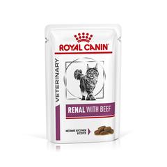 Пауч для кошек, Royal Canin Renal Feline With Beef, при хронической почечной недостаточности, с говядиной