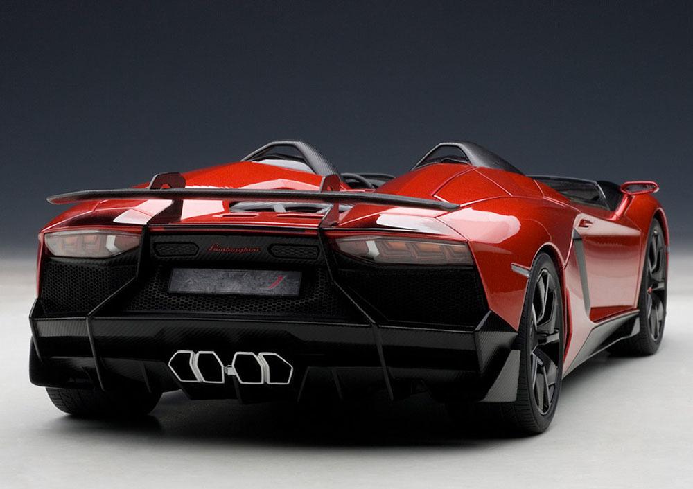 Коллекционная модель Lamborghini Aventador J 2012 Red Metallic