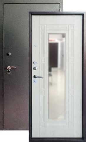 Дверь входная Форт  Б-14, 2 замка, 1,8 мм  металл, (серебро антик+беленый дуб)